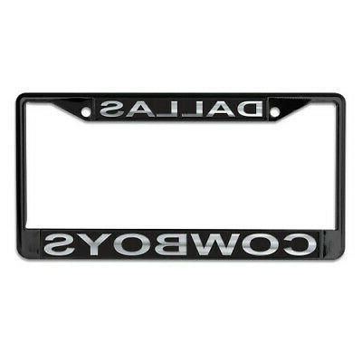 dallas cowboys mirrored metal license plate frame