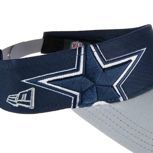 New Men's Cowboys Double Visor Navy Grey, Size MIS