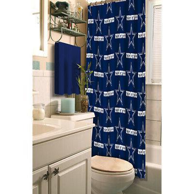 dallas cowboys nfl fabric shower curtain 72x72