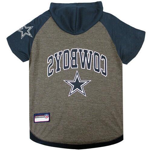 dallas cowboys pet hoodie t shirt large