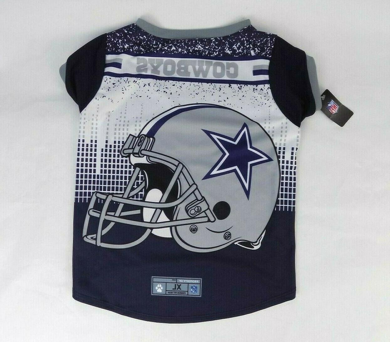 dallas cowboys pet performance blue tshirt xl
