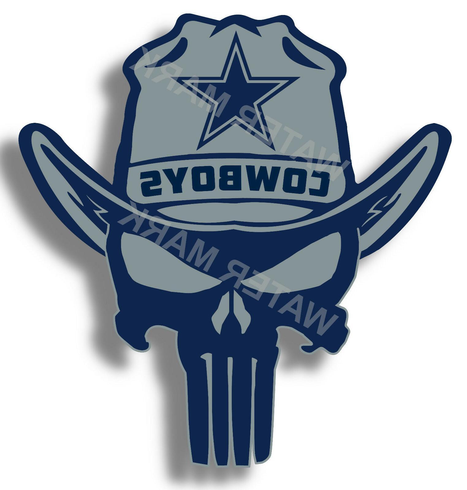 dallas cowboys punisher nfl sticker decal vinyl