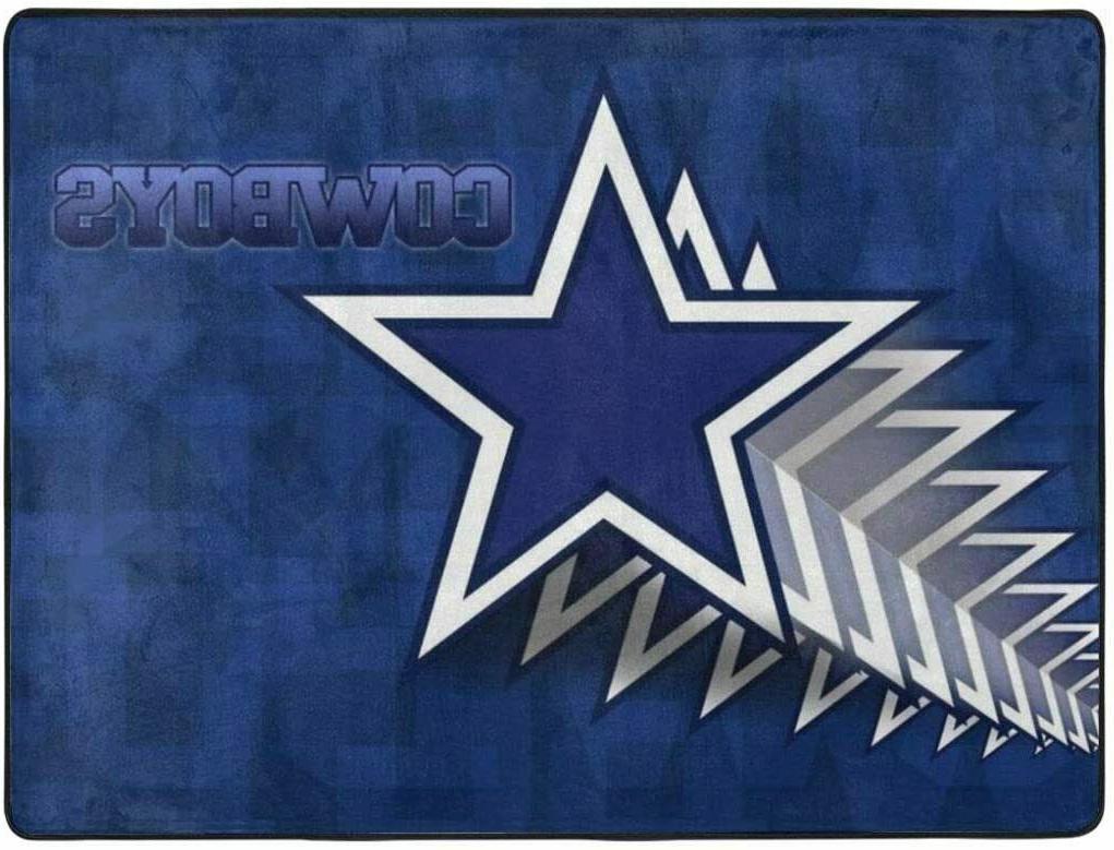 Dallas Cowboys Anti-Skid Area Rug Living Room Bedroom Floor Carpet