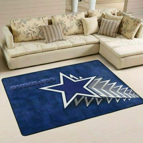 Dallas Cowboys Living Rug Fans Floor Carpet