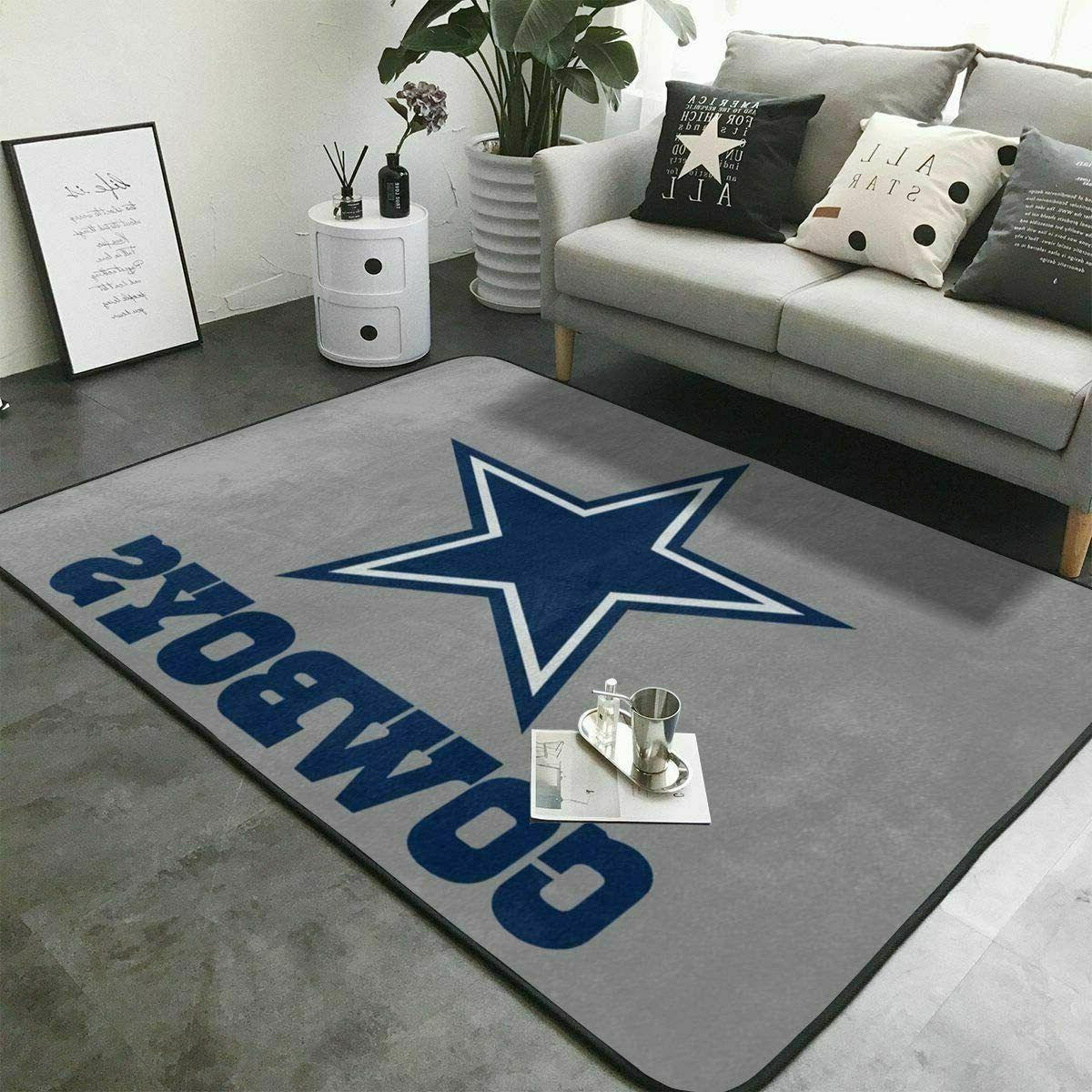 Dallas Living Rug Fans Carpet