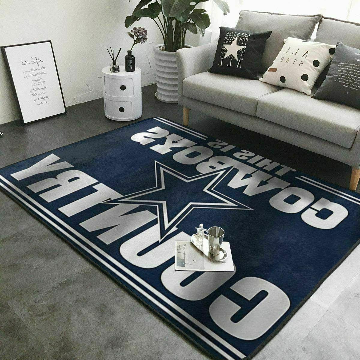 dallas cowboys rugs anti skid living room