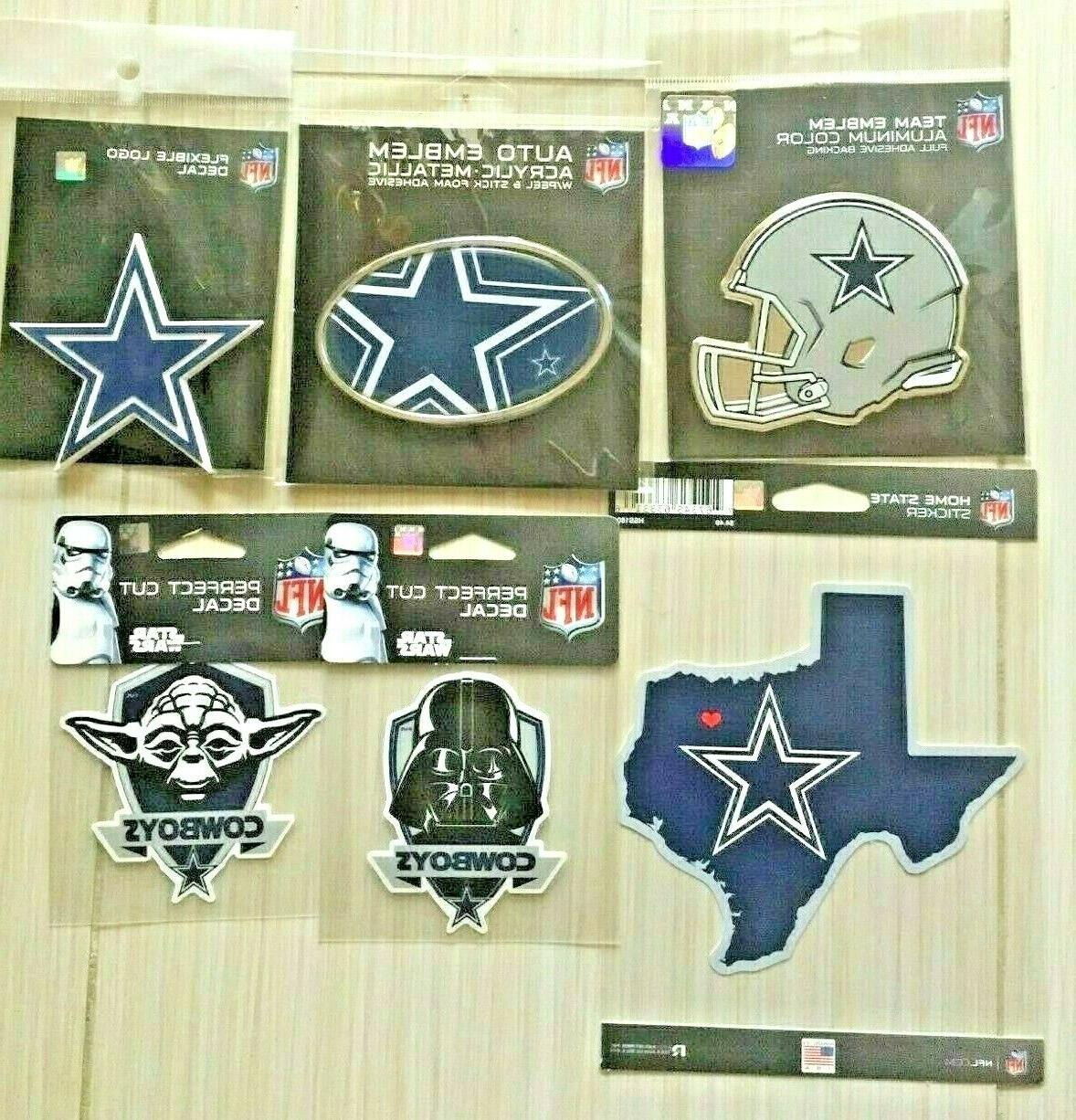 Dallas Cowboys 6 Decal,Texas Star decals, 2 Emblems NEW