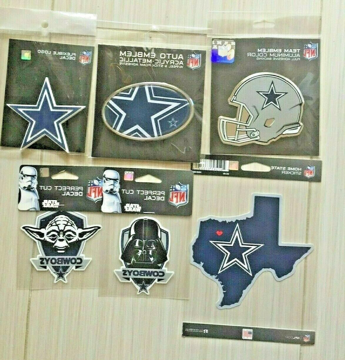 dallas cowboys set of 6 decal texas