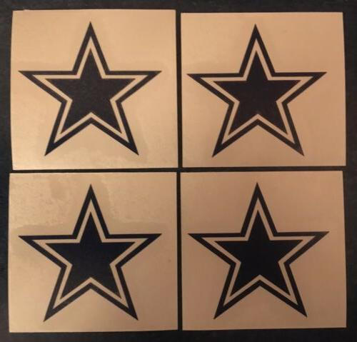 dallas cowboys star 2 x2 4 pack