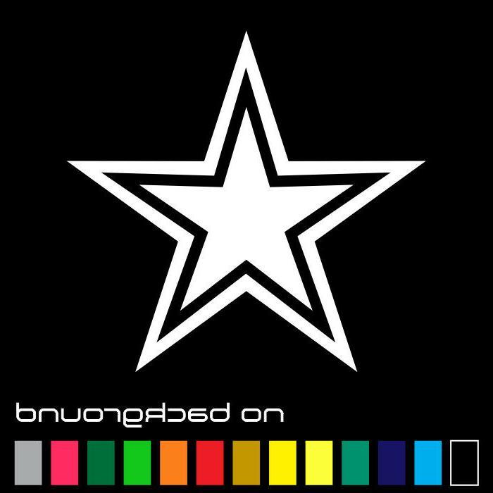 dallas cowboys star sticker vinyl decal champions
