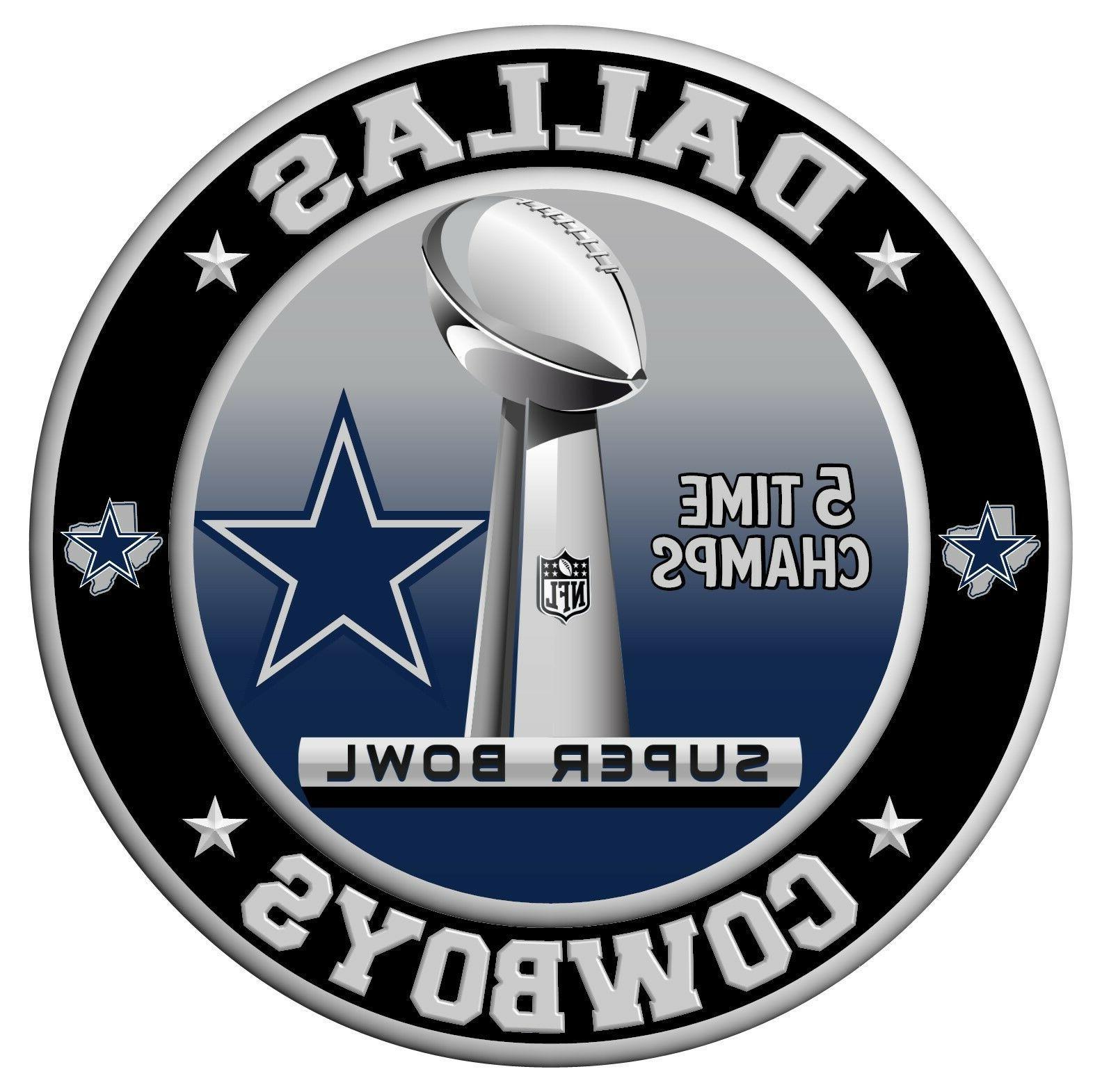 dallas cowboys super bowl championship sticker nfl