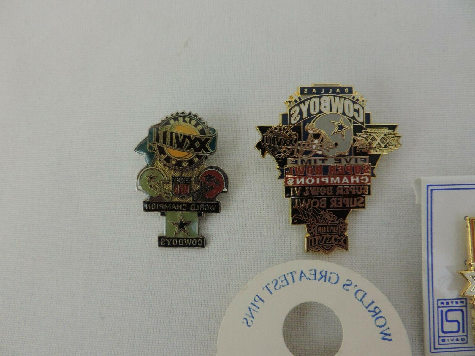 Dallas Cowboys Super Pin Lot LAPEL Mint