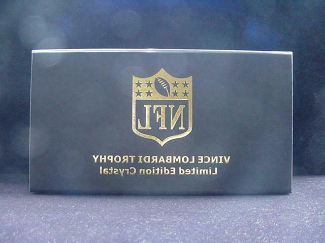 Dallas Cowboys Super XXX Vince Crystal Trophy