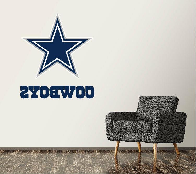 dallas cowboys wall decal logo football nfl