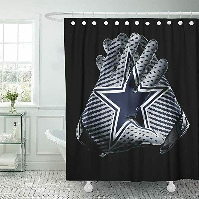 dallas cowboys waterproof bathroom shower curtain 72