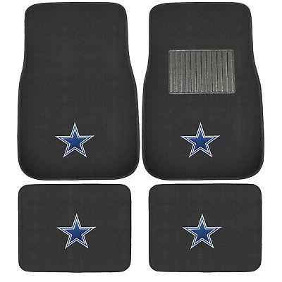 New 4pcs NFL Dallas Cowboys Car Truck Front Rear Carpet Floo