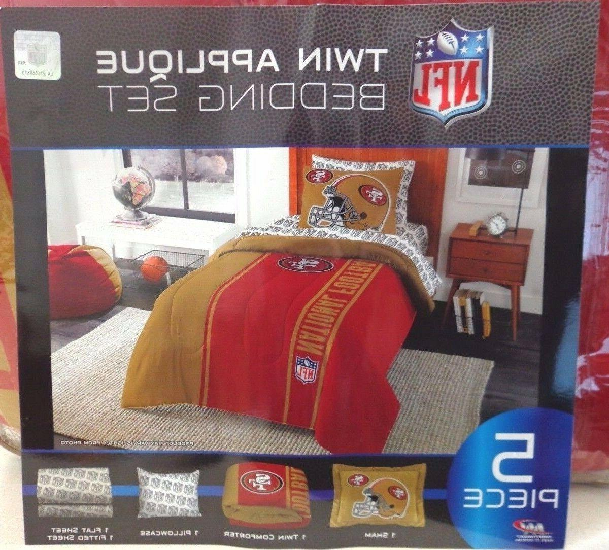nfl 5 piece twin sized team bedding