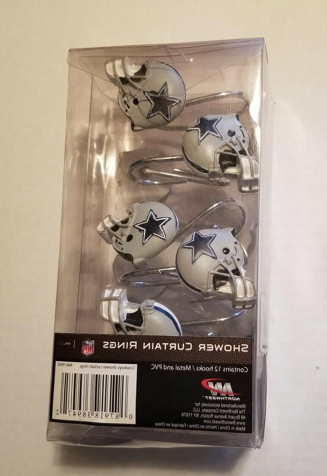 NFL Cowboys Helmet Shower Curtain Set