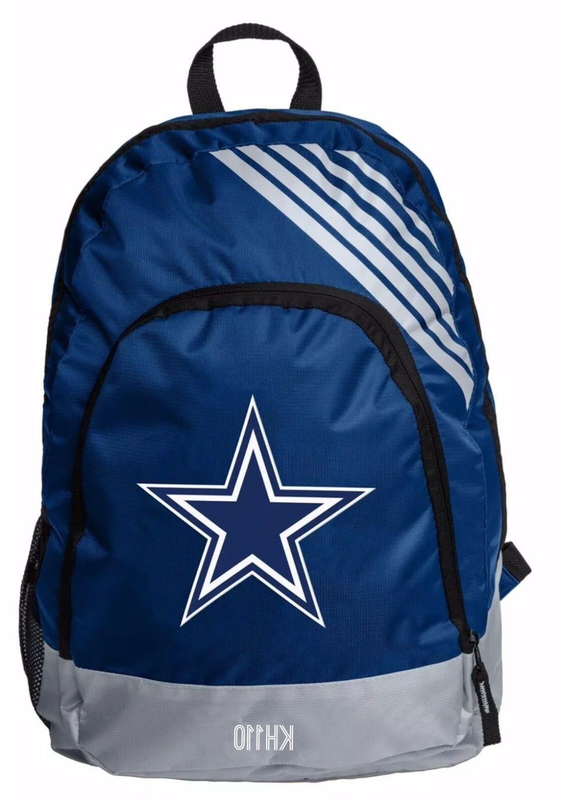 nfl dallas cowboys 2018 border stripe backpack