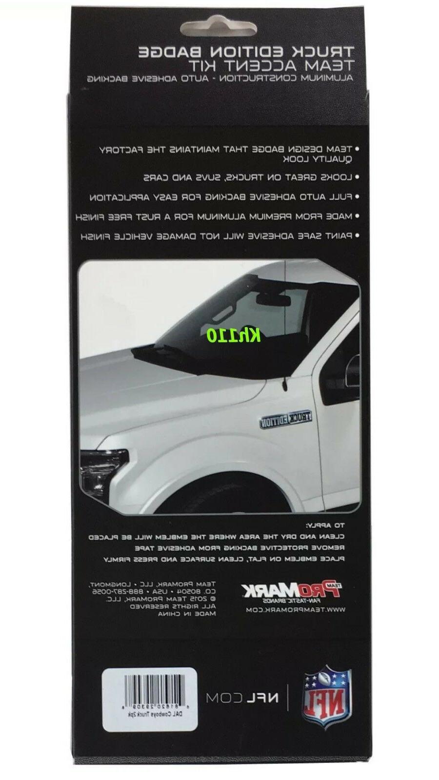 NFL Dallas Car Truck Edition Color Aluminum