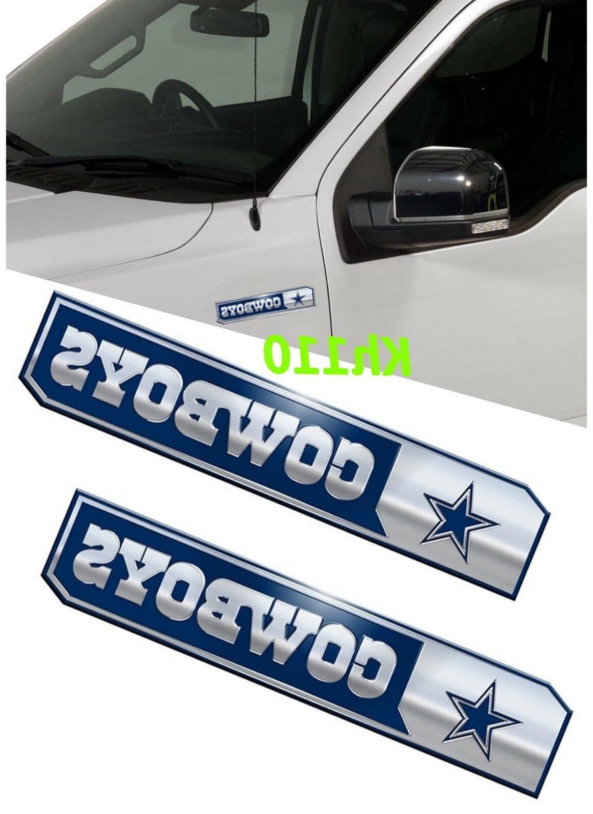 nfl dallas cowboys car truck edition badge