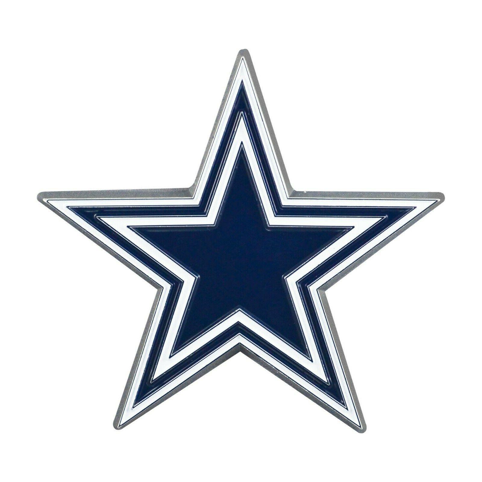 nfl dallas cowboys diecast 3d color emblem