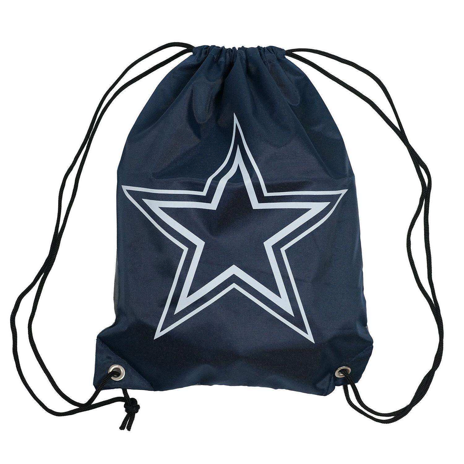 nfl dallas cowboys double sided drawstring backpack