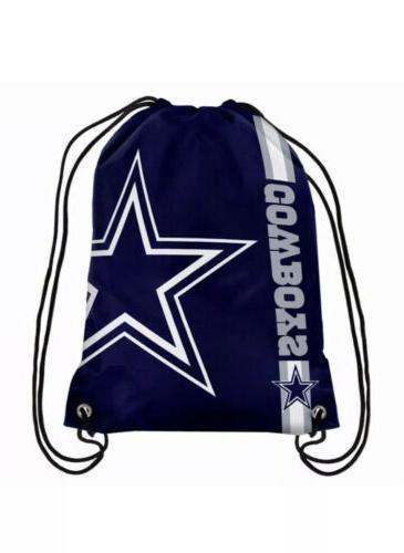 nfl dallas cowboys drawstring backpack sack tote