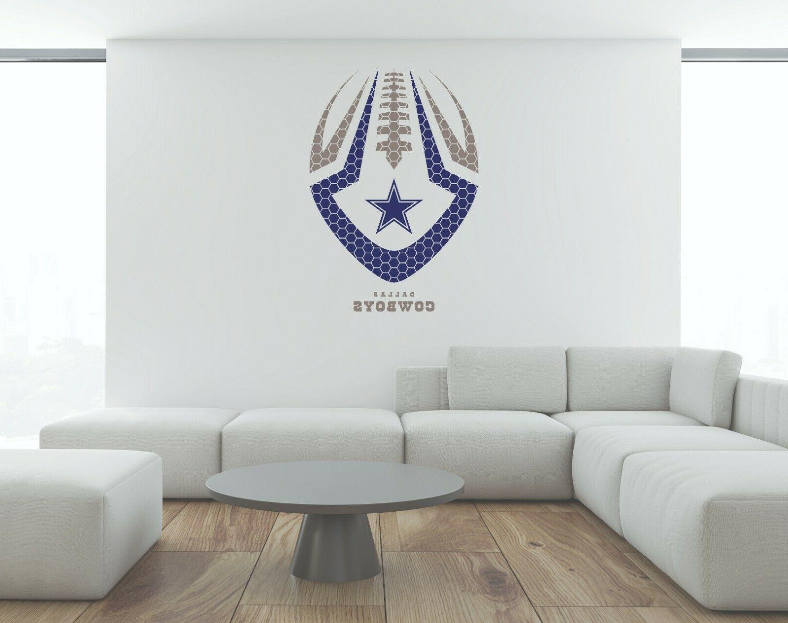 nfl dallas cowboys wall decal decor new
