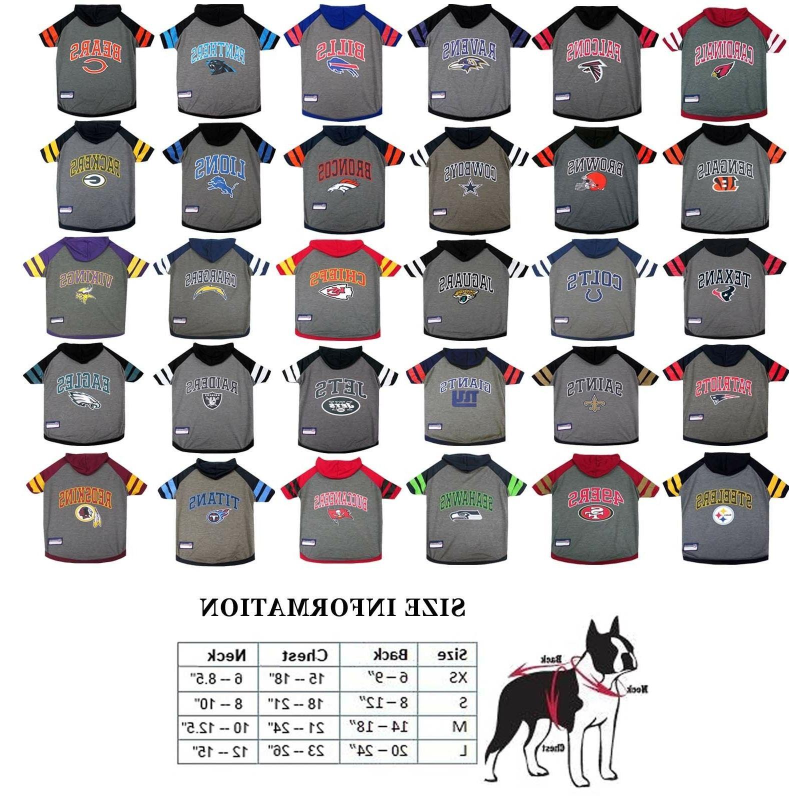 nfl licensed football dog pet hoodie t