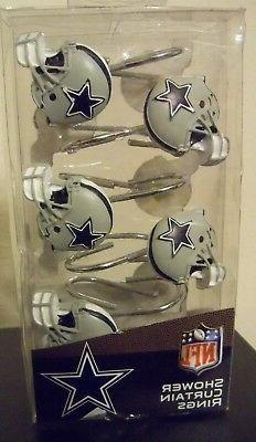 NW Dallas Texas Cowboys Star Football Helmet Shower Curtain