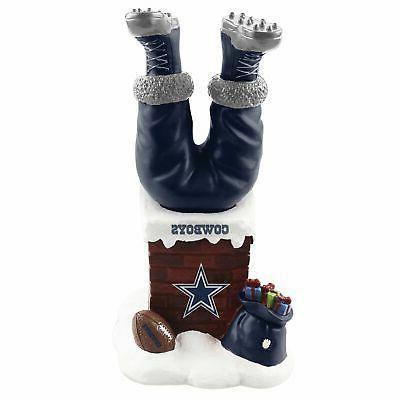 santa claus dallas cowboys santa legs chimney