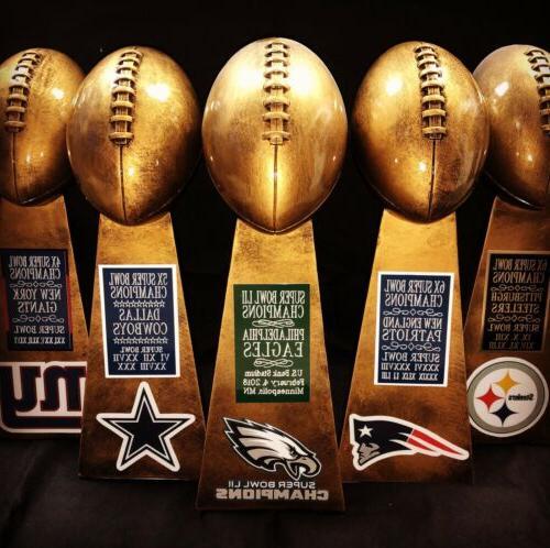 super bowl championship replica lombardi trophy gold