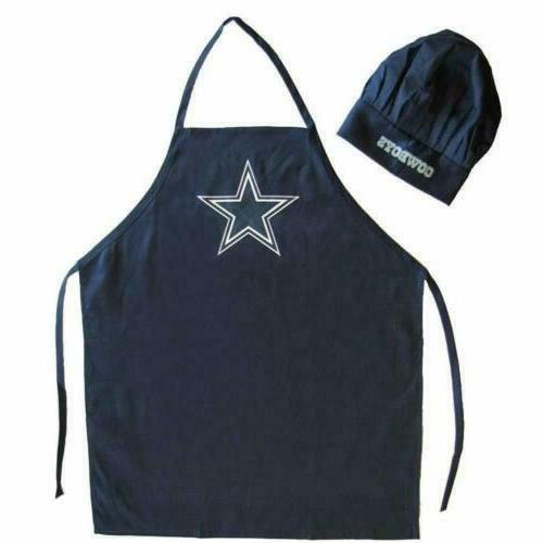 US TX 2 Pack for Dallas Cowboys Chef Apron Set, Chef Hat and