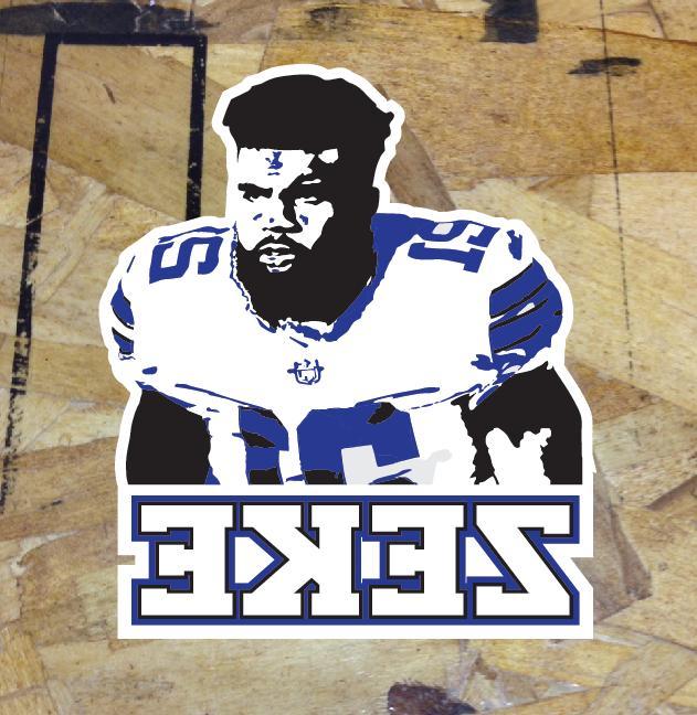 zeke ezekiel elliott dallas cowboys fan sticker