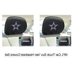 New 2pc NFL Dallas Cowboys Gear Car Truck Suv Van Headrest C