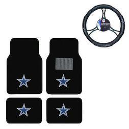 New 5pc NFL Dallas Cowboys Car Truck Floor Mats & Steering W