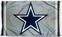NEW Dallas Cowboys Grey Flag Blue Star Large 3'X5' NFL Banne