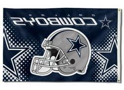 NEW Dallas Cowboys Helmet Flag Large 3'X5' NFL Banner FREE S