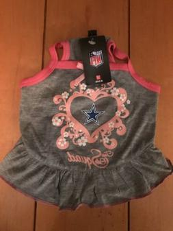 New Dallas Cowboys Pet Dog Pink Squad Cheerleader Jersey Tee