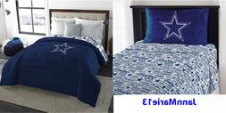 NEW! NFL DALLAS COWBOYS Blue Twin or Full Size Comforter & S