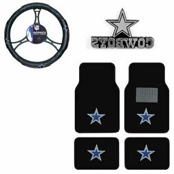 New NFL Dallas Cowboys Car Truck Floor Mats Steering Wheel C