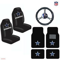 New NFL Dallas Cowboys Car Truck Seat Covers Floor Mats Stee