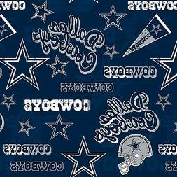 NEW NFL DALLAS COWBOYS COTTON FABRIC MATERIAL, Fabric Sold B