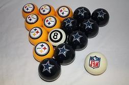 NEW NFL Pittsburgh Steelers vs Dallas Cowboys Billiard Pool