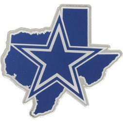 NFL Dallas Cowboys ACRYLIC METALLIC AUTO EMBLEM Texas Shaped