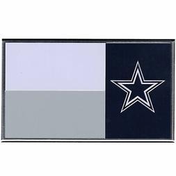 Official NFL Dallas Cowboys Colored Aluminum Flag Car Auto E