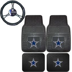 NFL Dallas Cowboys Car Truck Rubber Floor Mats & Steering Wh