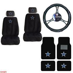 NFL Dallas Cowboys Car Truck Seat Covers Floor Mats Steering