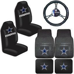 NFL Dallas Cowboys Car Truck Seat Covers Floor Mats & Steeri